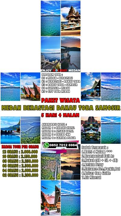 5D4N Medan Lake Toba Tour Berastagi Town