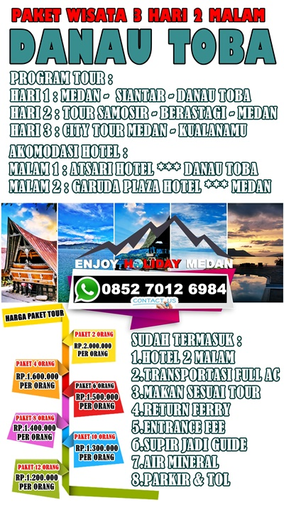 Paket Tour Medan-Berastagi-Parapat