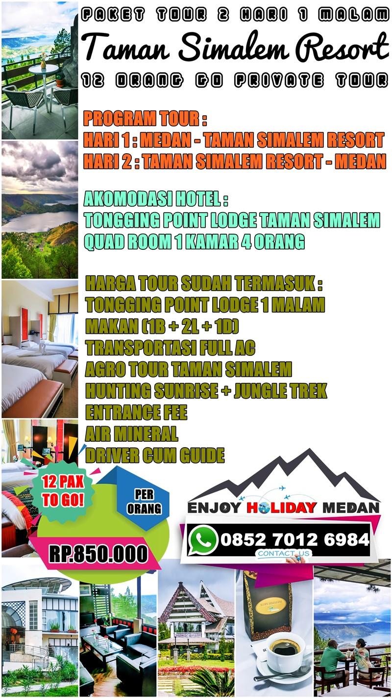 Paket Tour Medan Taman Simalem Resort 2D1N
